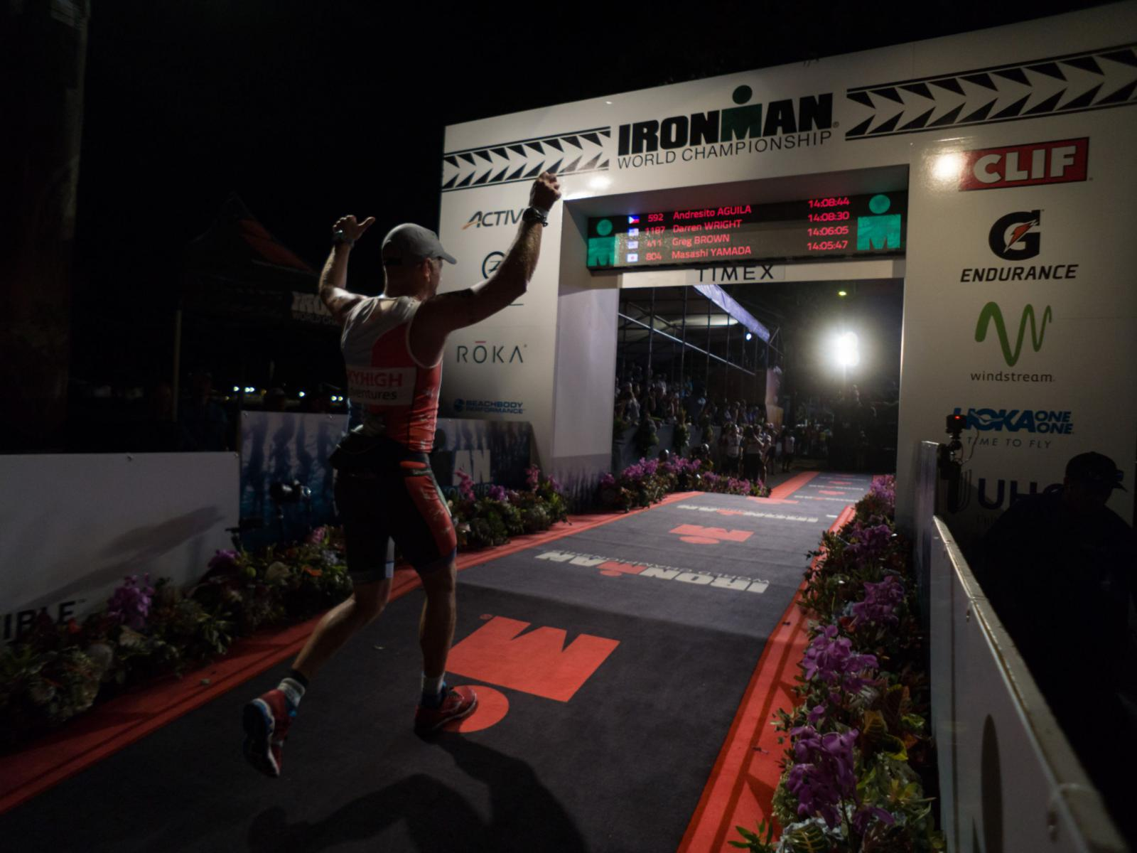 Ironman Hawaii finishline
